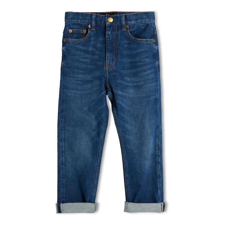Ollibis 5 Pocket unisex Jeans, Tapered Fit - denim blue