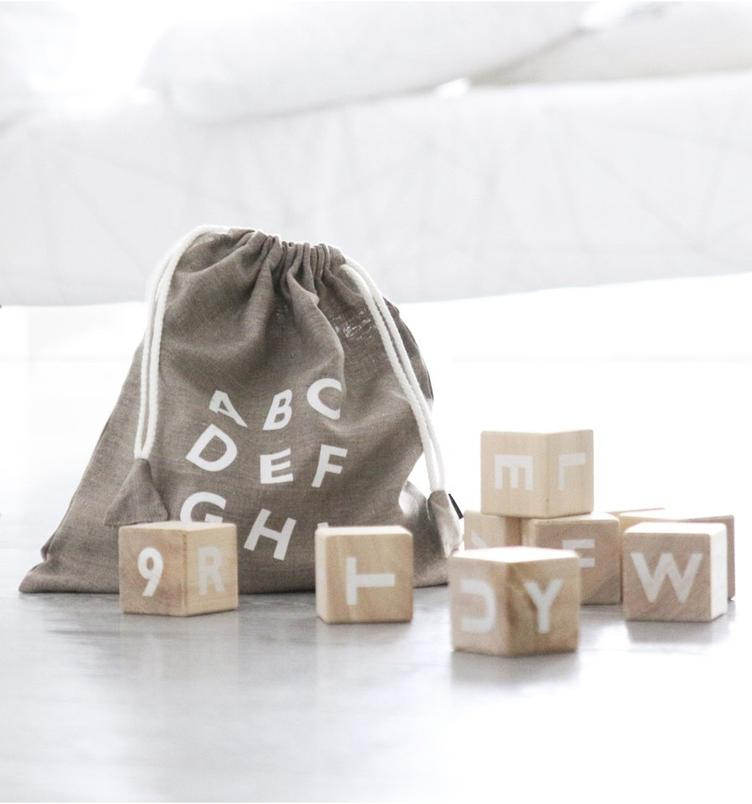 Alphabet blocks white - 0
