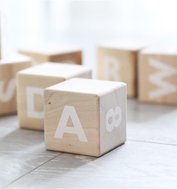 Alphabet blocks white