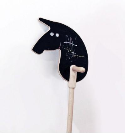 Cowboy Horse on a stick black - 0