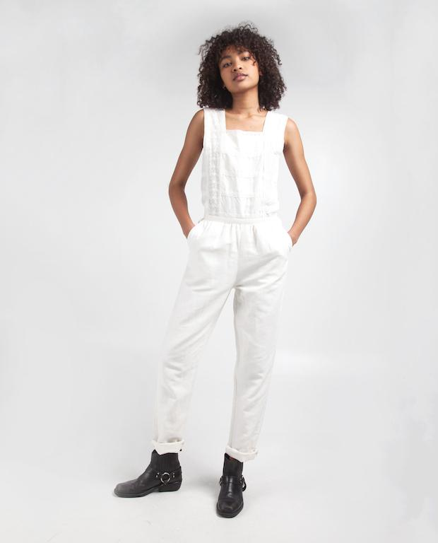 Overall Midred - Off-white