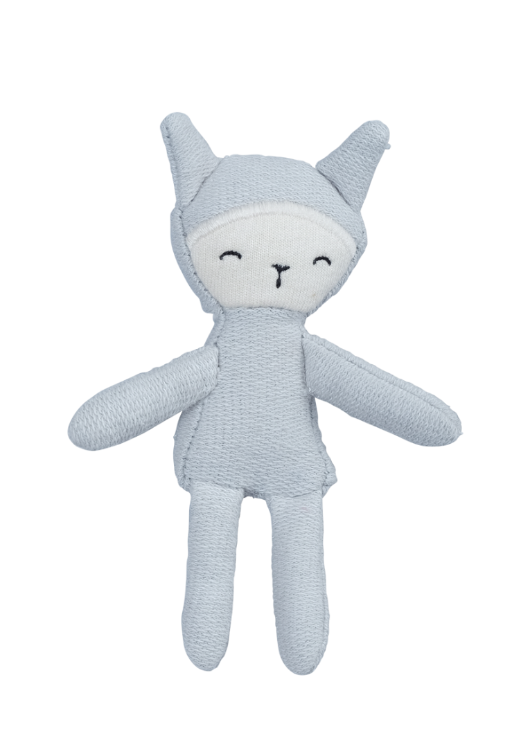 Pocket Friend Bunny- foggy blue