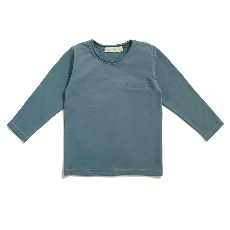 Pocket T-Shirt langärmlig - Balsam Blue
