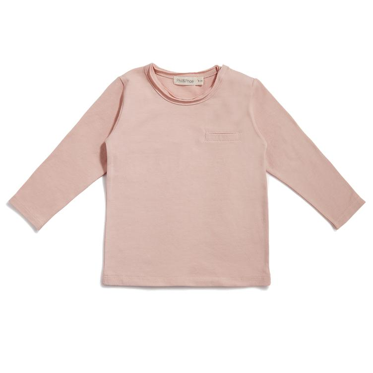 Pocket T-Shirt langärmlig - Blush