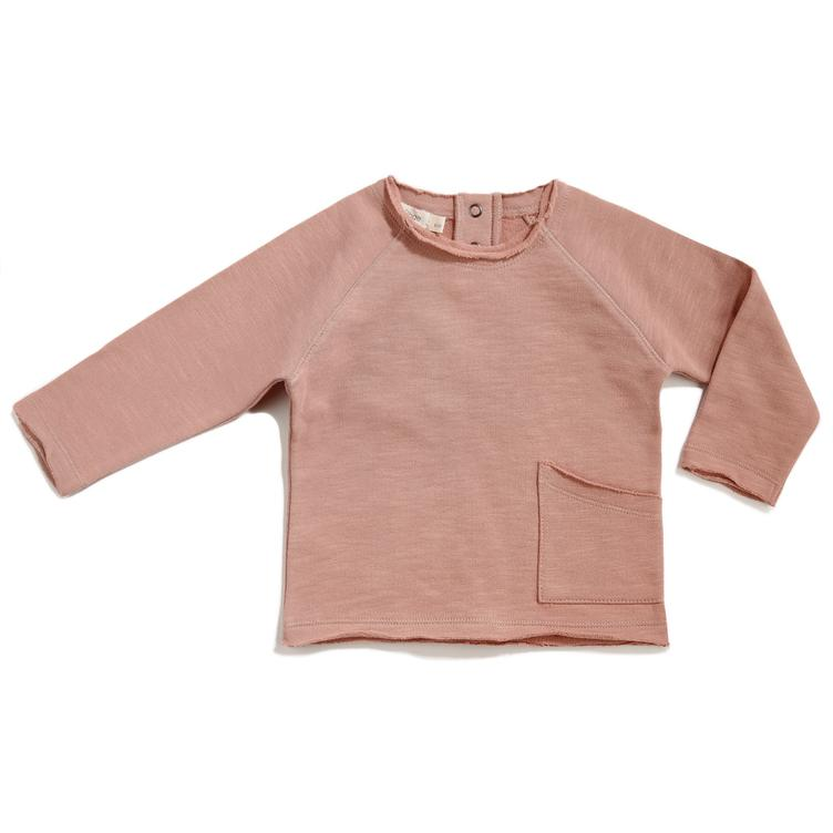 Raw Edged Sweatshirt - Dusty Blush