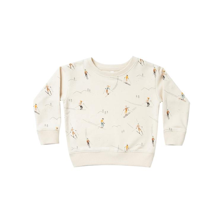 ski sweatshirt - wheat