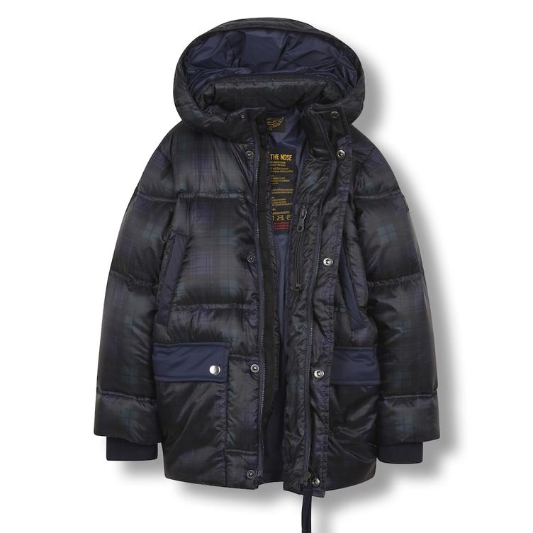 Snowcamp Daunenjacke - navy checker