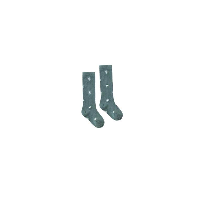 solid knee socks northern star - spruce