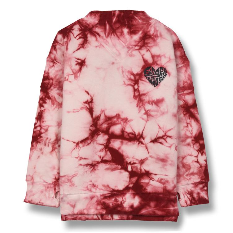 Stance Finger Heart Sweatshirt - old pink