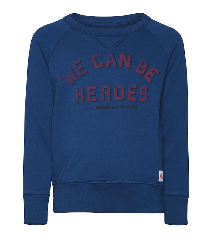 Sweater C-Neck Heroes - estate blue
