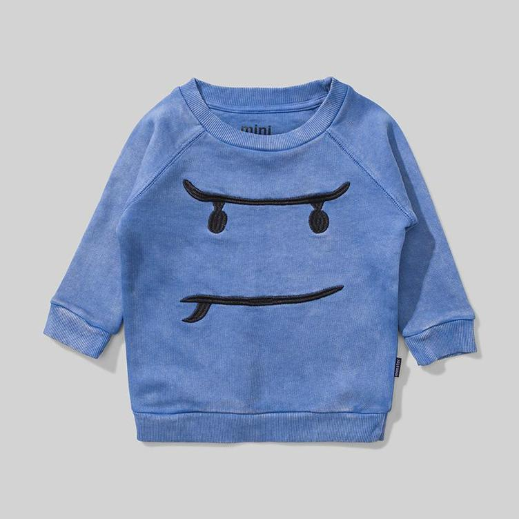 Sweater Maple Face - Washed Blue