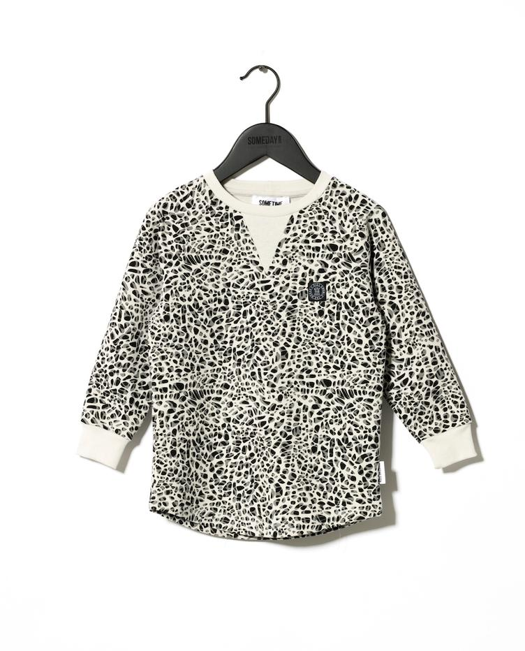 Sweatshirt Abbot - Leoprint White