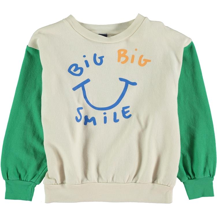 Sweatshirt Big Smile - green