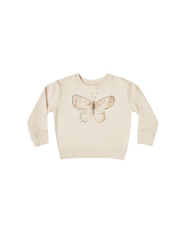 Sweatshirt Butterfly - natural