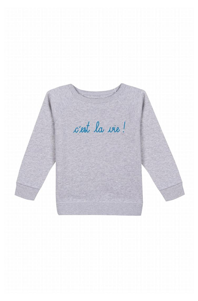 Sweatshirt C`est La Vie - heather grey