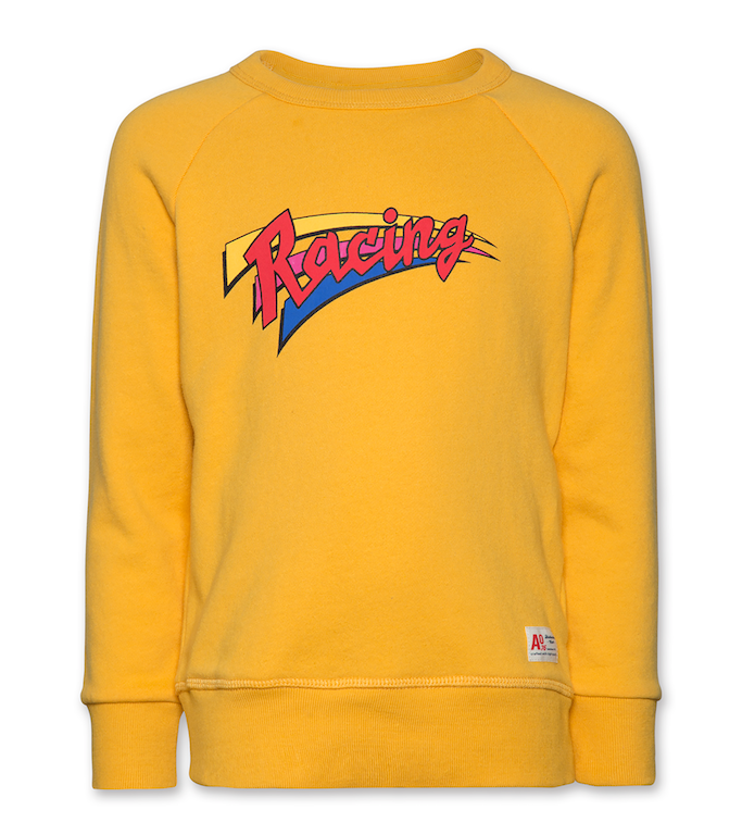 Sweatshirt C-neck Racing - Yellow