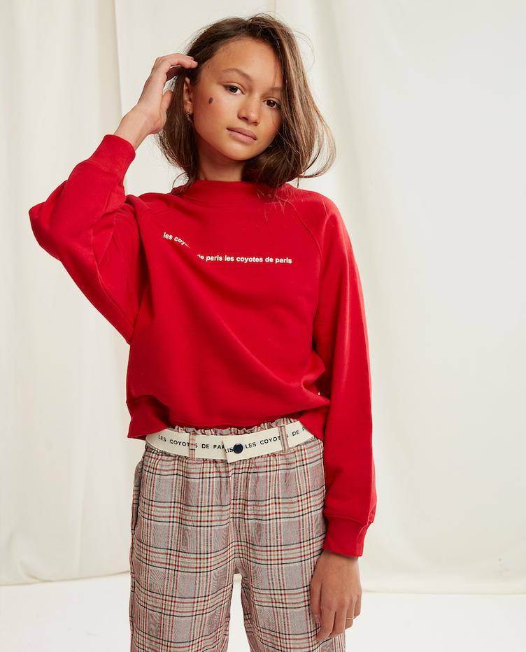 Sweatshirt Milou - Bright Red