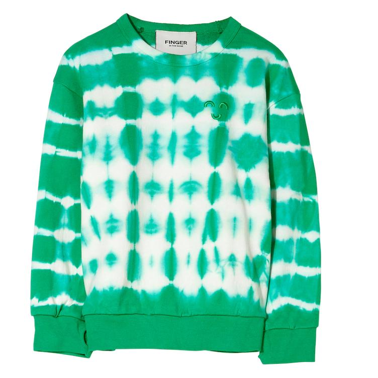 Sweatshirt Wind in Green Tie & Dye