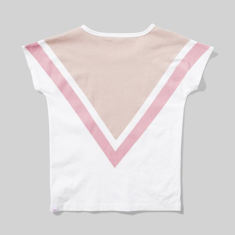 T-Shirt Big V - Cream - 0