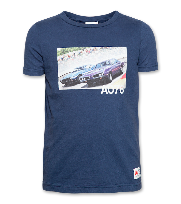 T-Shirt c-neck Car - navy