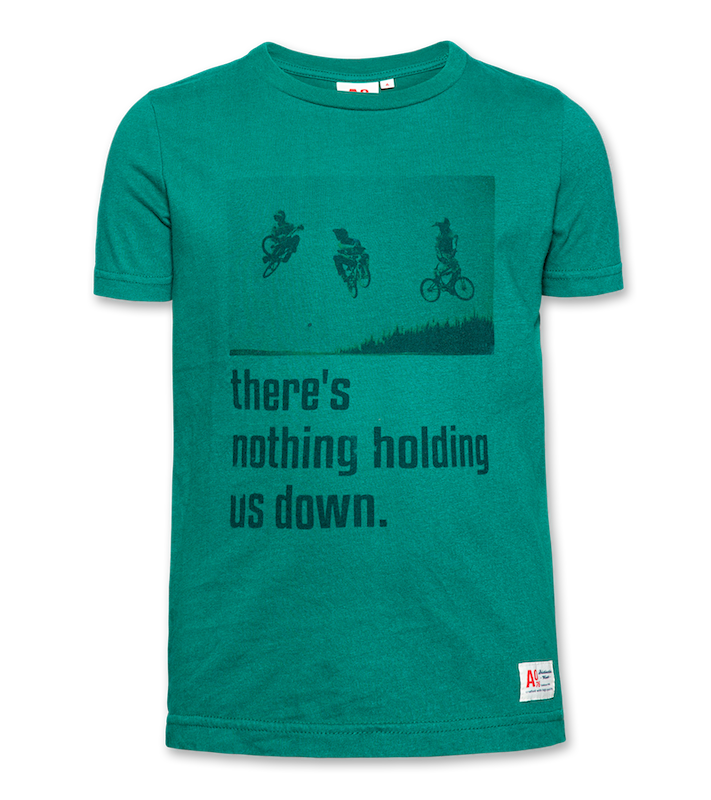 T-Shirt c-neck down - green