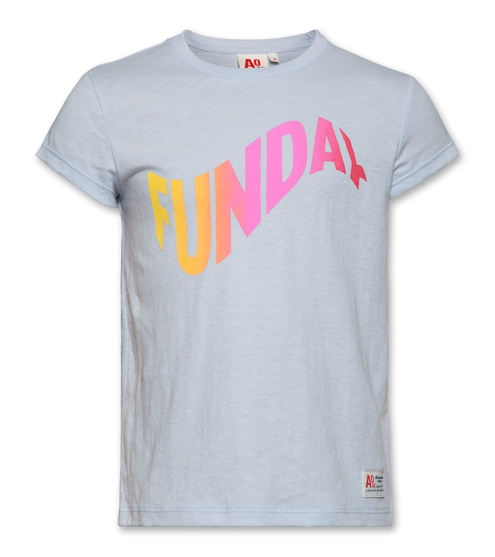 T-Shirt C-Neck Funday - light blue