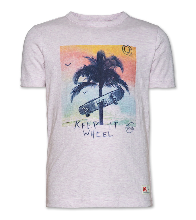 T-Shirt C-neck Wheel - Heather Lilac