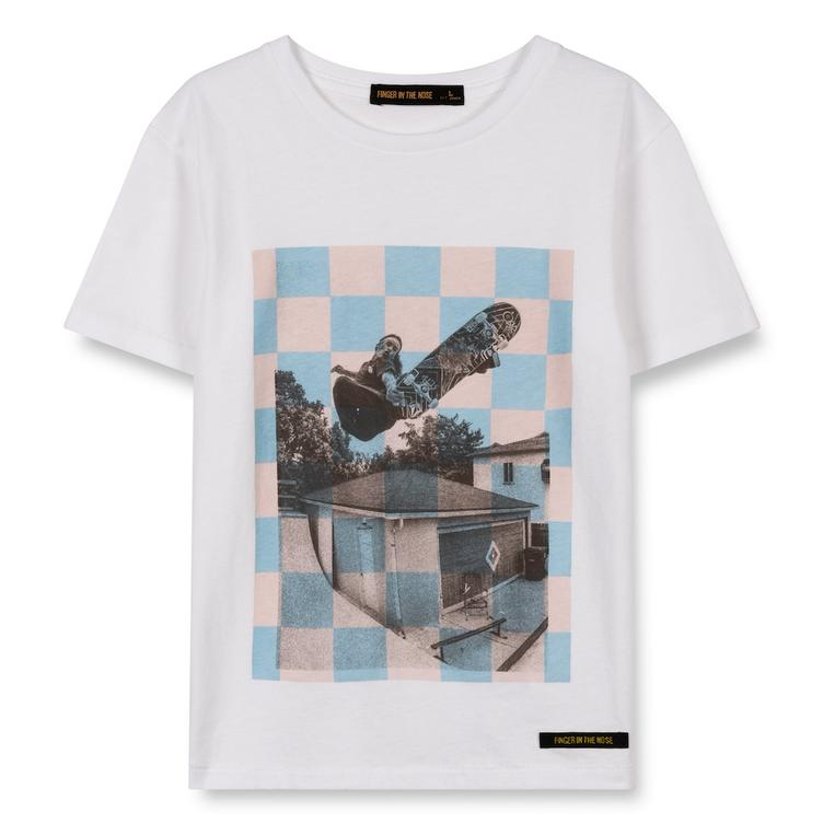 T-Shirt Dalton White Checkers Skate