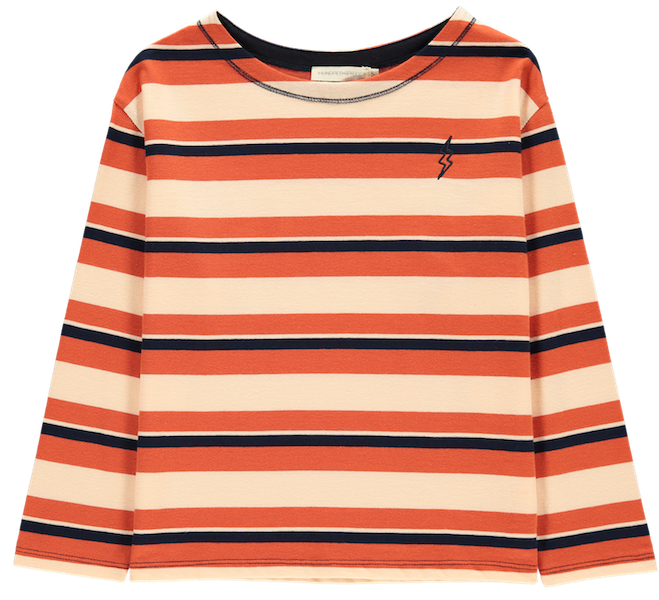 T-Shirt Flash Striped, langärmlig - Rot