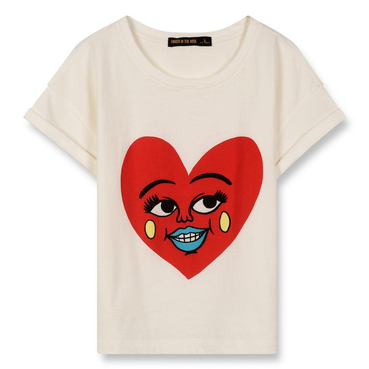 T-Shirt New Britney Ecru Heart