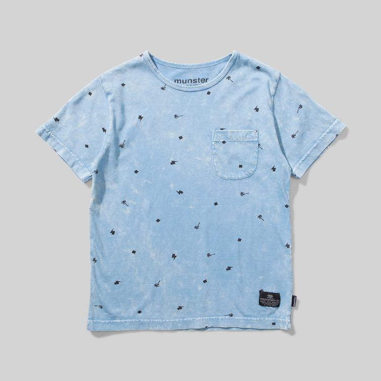 T-Shirt Palm Punk - Washed Blue