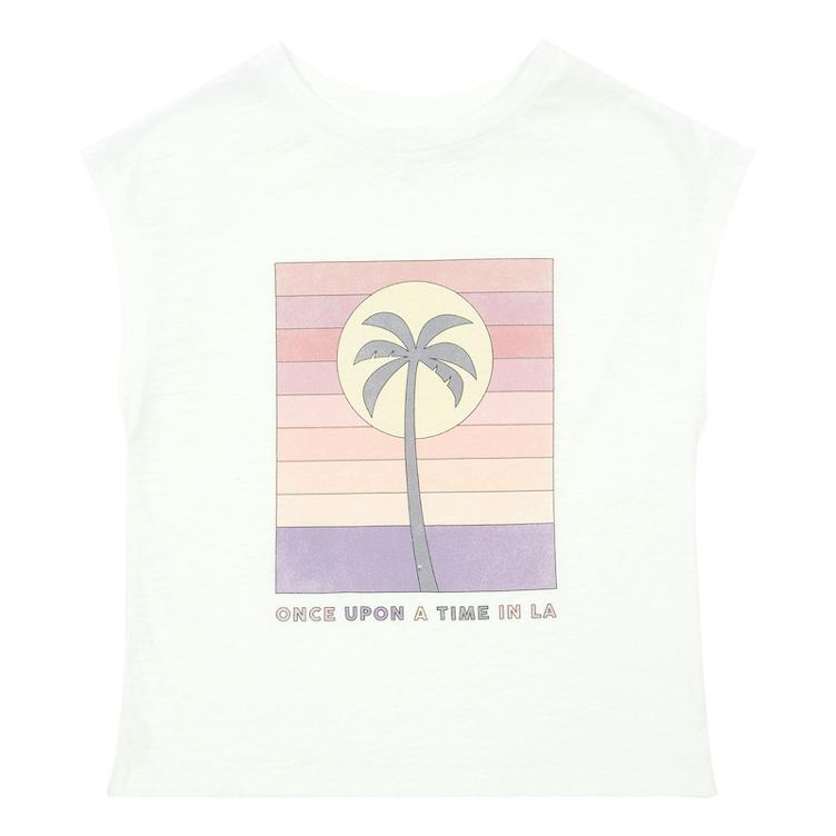 T-Shirt Palm Tree aus Bio Baumwolle - off-white