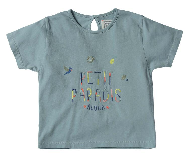 T-Shirt Petit Paradis - Blue Green