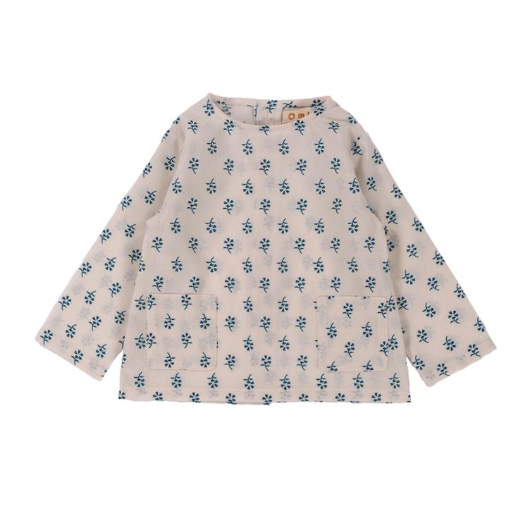 Top Oliver - Blue Flower Print