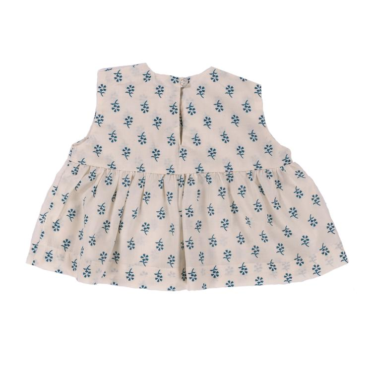 Top Romie - Blue Flower Print - 0