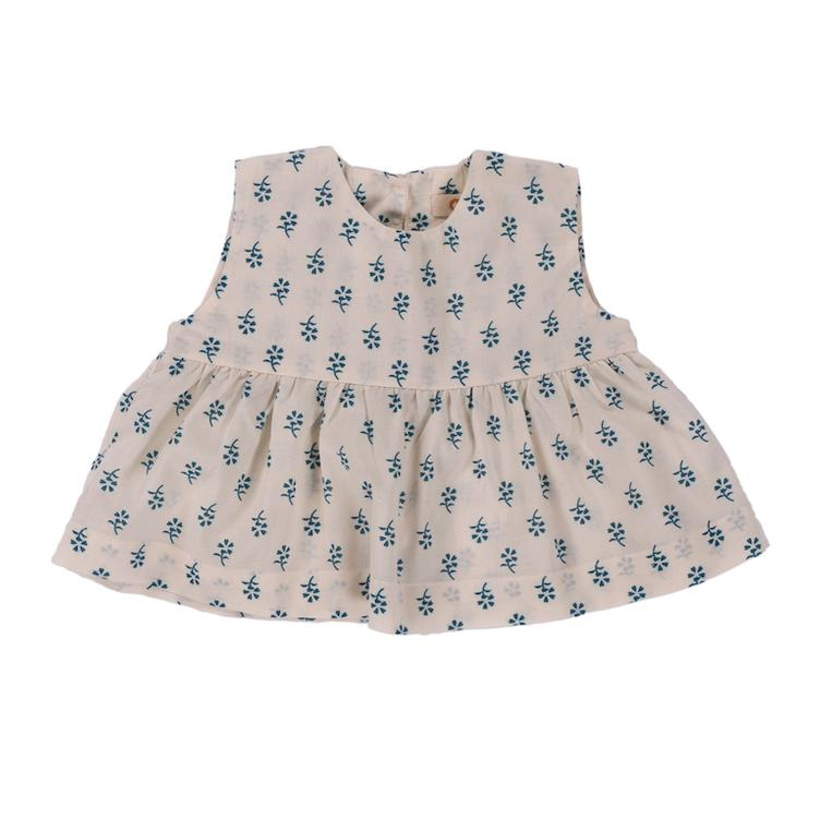 Top Romie - Blue Flower Print
