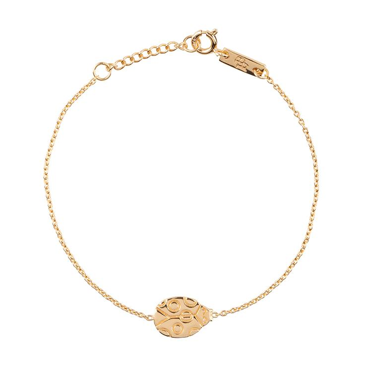 You are my lovely little Ladybug - Armband Tochter - gold