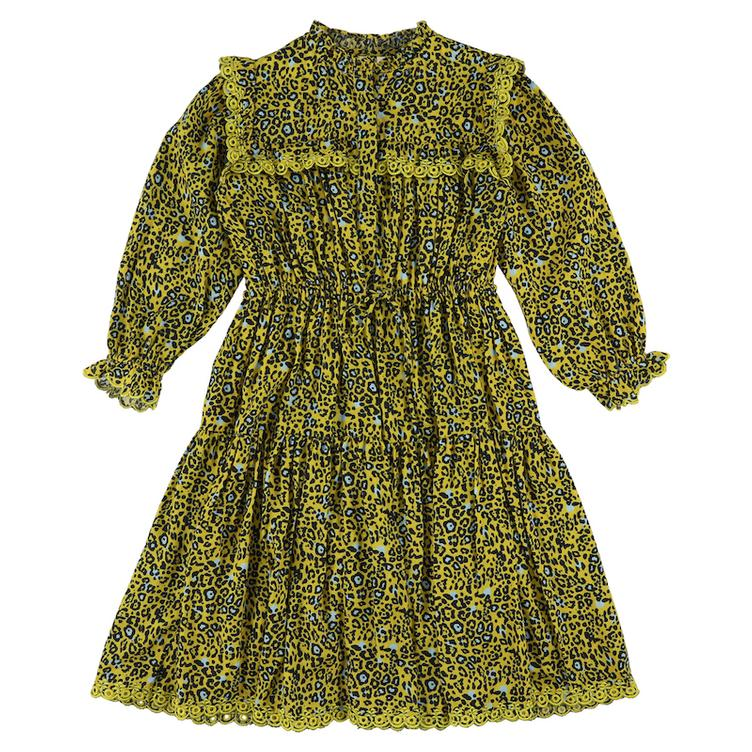 Zhang Panther Kleid - yellow